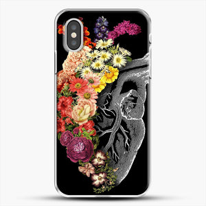 Flower Heart Spring iPhone XS Case, White Plastic Case | JoeYellow.com