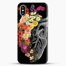 Load image into Gallery viewer, Flower Heart Spring iPhone XS Case, Black Snap 3D Case | JoeYellow.com