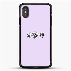 Flower Tumblr iPhone XS Case, Black Rubber Case | JoeYellow.com