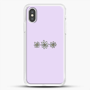 Flower Tumblr iPhone XS Case, White Rubber Case | JoeYellow.com