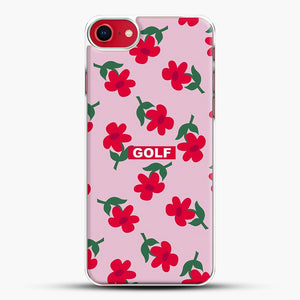 Flowers Golf Tyler The Creator iPhone 8 Case, White Plastic Case | JoeYellow.com