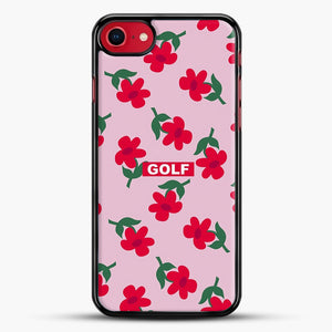 Flowers Golf Tyler The Creator iPhone 8 Case, Black Rubber Case | JoeYellow.com