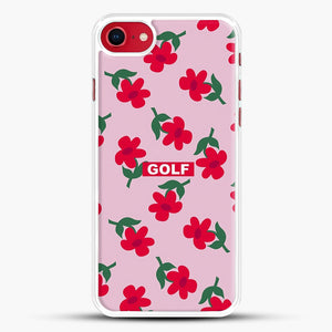 Flowers Golf Tyler The Creator iPhone 8 Case, White Rubber Case | JoeYellow.com
