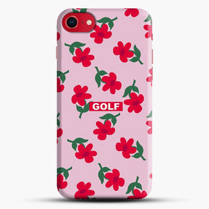 Flowers Golf Tyler The Creator iPhone 8 Case, Black Snap 3D Case | JoeYellow.com