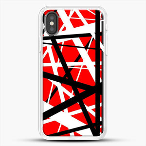 Frankenstein Pattern iPhone X Case, White Rubber Case | JoeYellow.com