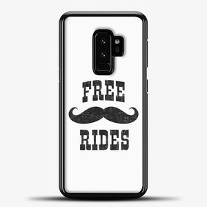 Free Mustache Rides Black Samsung Galaxy S9 Plus Case