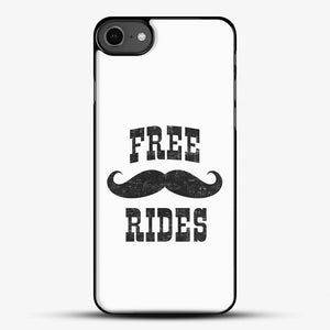Free Mustache Rides Black iPhone 7 Case