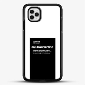 Gabriel And Dresden Club Quarantine Merch Is Here iPhone 11 Pro Case, Black Rubber Case | JoeYellow.com