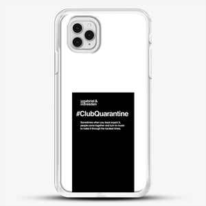 Gabriel And Dresden Club Quarantine Merch Is Here iPhone 11 Pro Case, White Rubber Case | JoeYellow.com