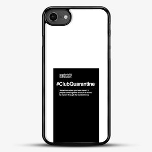 Gabriel And Dresden Club Quarantine Merch Is Here iPhone 7 Case, Black Rubber Case | JoeYellow.com
