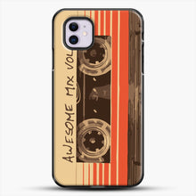 Load image into Gallery viewer, Galactic Soundtrack iPhone 11 Case, Black Plastic Case | JoeYellow.com