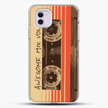 Load image into Gallery viewer, Galactic Soundtrack iPhone 11 Case, White Plastic Case | JoeYellow.com
