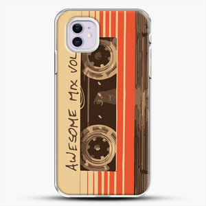 Galactic Soundtrack iPhone 11 Case, White Plastic Case | JoeYellow.com