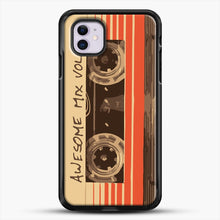 Load image into Gallery viewer, Galactic Soundtrack iPhone 11 Case, Black Rubber Case | JoeYellow.com