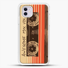 Load image into Gallery viewer, Galactic Soundtrack iPhone 11 Case, White Rubber Case | JoeYellow.com