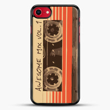 Load image into Gallery viewer, Galactic Soundtrack iPhone 7 Case, Black Rubber Case | JoeYellow.com