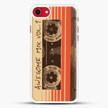 Load image into Gallery viewer, Galactic Soundtrack iPhone 7 Case, White Rubber Case | JoeYellow.com