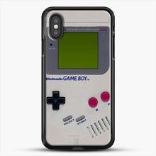 Load image into Gallery viewer, Gameboy iPhone XS Case, Black Rubber Case | JoeYellow.com