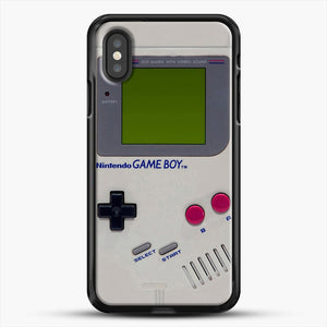 Gameboy iPhone XS Case, Black Rubber Case | JoeYellow.com