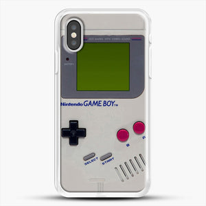 Gameboy iPhone XS Case, White Rubber Case | JoeYellow.com