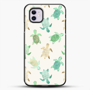 Gilded Jade And Mint Turtles iPhone 11 Case, Black Plastic Case | JoeYellow.com