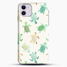 Load image into Gallery viewer, Gilded Jade And Mint Turtles iPhone 11 Case, Black Snap 3D Case | JoeYellow.com