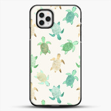 Load image into Gallery viewer, Gilded Jade And Mint Turtles iPhone 11 Pro Case, Black Plastic Case | JoeYellow.com