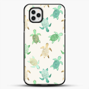 Gilded Jade And Mint Turtles iPhone 11 Pro Case, Black Plastic Case | JoeYellow.com