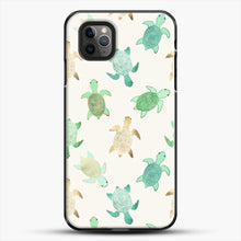 Load image into Gallery viewer, Gilded Jade And Mint Turtles iPhone 11 Pro Max Case, Black Plastic Case | JoeYellow.com