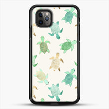 Load image into Gallery viewer, Gilded Jade And Mint Turtles iPhone 11 Pro Max Case, Black Rubber Case | JoeYellow.com