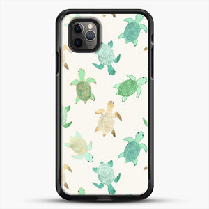 Gilded Jade And Mint Turtles iPhone 11 Pro Max Case, Black Rubber Case | JoeYellow.com