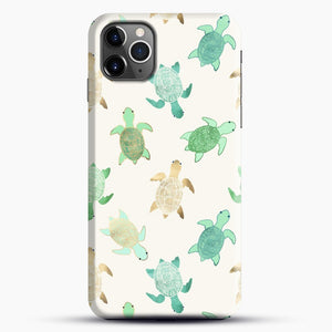 Gilded Jade And Mint Turtles iPhone 11 Pro Max Case, Black Snap 3D Case | JoeYellow.com