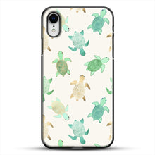 Load image into Gallery viewer, Gilded Jade And Mint Turtles iPhone XR Case, Black Plastic Case | JoeYellow.com