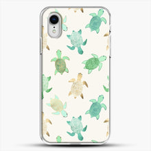 Load image into Gallery viewer, Gilded Jade And Mint Turtles iPhone XR Case, White Plastic Case | JoeYellow.com
