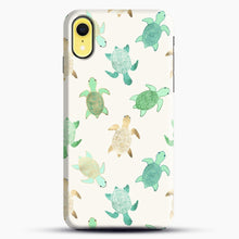 Load image into Gallery viewer, Gilded Jade And Mint Turtles iPhone XR Case, Black Snap 3D Case | JoeYellow.com