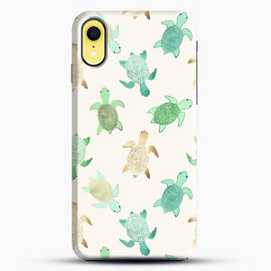 Gilded Jade And Mint Turtles iPhone XR Case, Black Snap 3D Case | JoeYellow.com