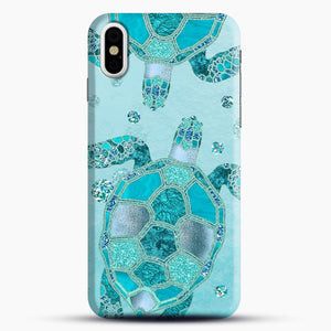 Glamour Aqua Turquoise Turtle Underwater Scenery iPhone Case, Black Snap 3D Case | JoeYellow.com