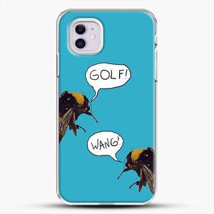 Golf Wang Scum Fuck Bees iPhone 11 Case, White Plastic Case | JoeYellow.com
