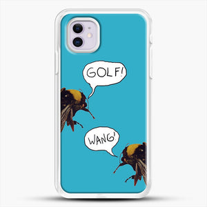 Golf Wang Scum Fuck Bees iPhone 11 Case, White Rubber Case | JoeYellow.com