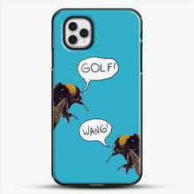 Load image into Gallery viewer, Golf Wang Scum Fuck Bees iPhone 11 Pro Case, Black Plastic Case | JoeYellow.com