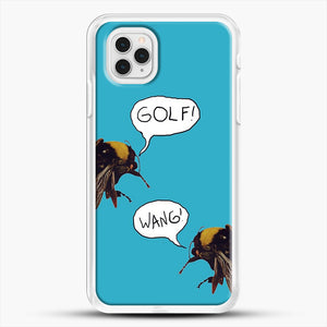 Golf Wang Scum Fuck Bees iPhone 11 Pro Case, White Rubber Case | JoeYellow.com