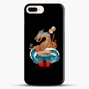Great Ramen Wave Dragon Black Wallpaper iPhone 7 Plus Case
