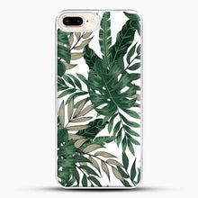 Load image into Gallery viewer, Green Leaves With White & Brown Flowers Pattern iPhone 8 Plus Case