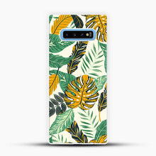 Load image into Gallery viewer, Green Leaves With Yellow & Green Flowers Tropical Pattern Samsung Galaxy S10 Case