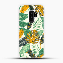 Load image into Gallery viewer, Green Leaves With Yellow & Green Flowers Tropical Pattern Samsung Galaxy S9 Plus Case