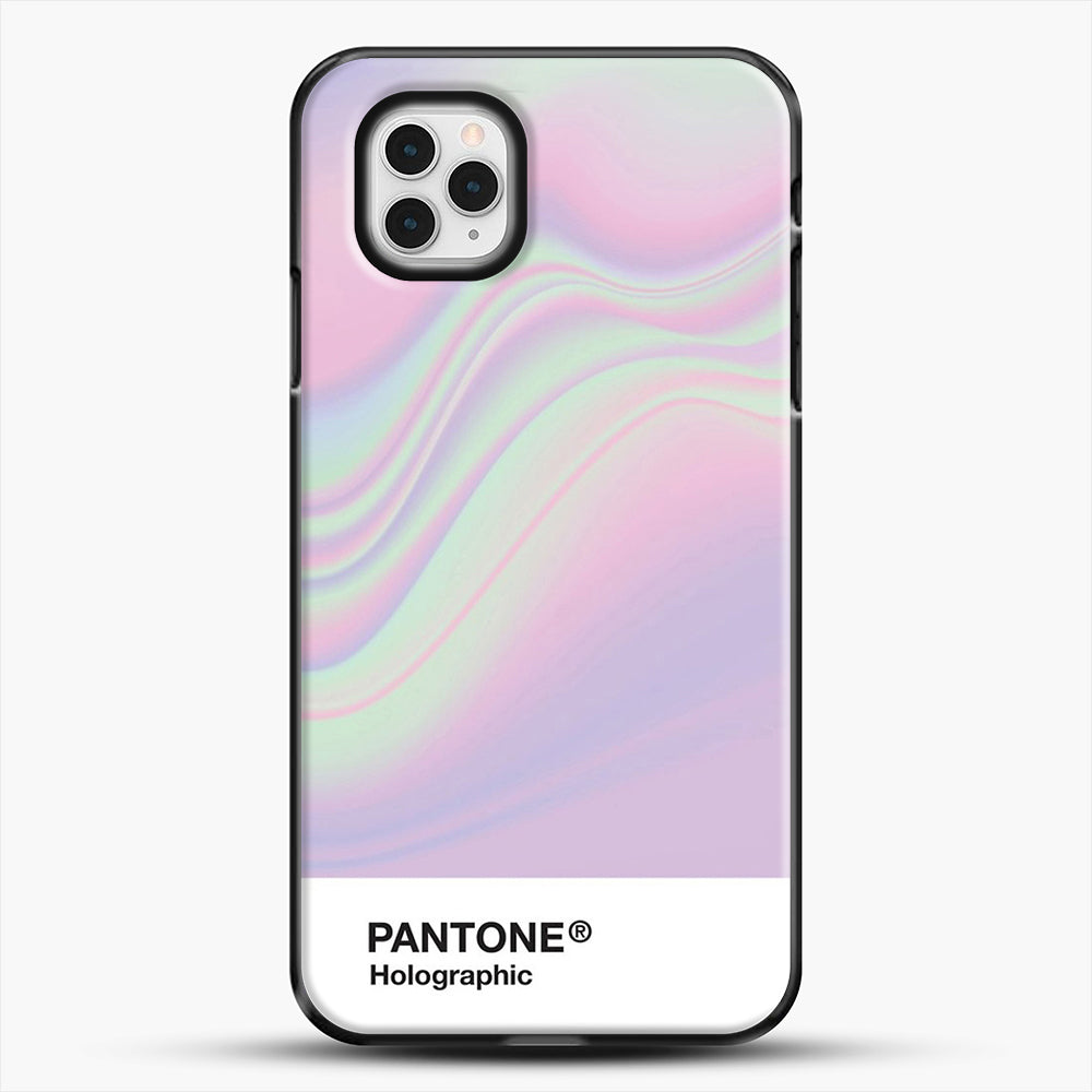 Hipab Holographic Iridescent Pantone Aesthetic Background iPhone 11 Pro Case, Black Plastic Case | JoeYellow.com