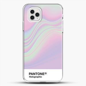Hipab Holographic Iridescent Pantone Aesthetic Background iPhone 11 Pro Case, White Plastic Case | JoeYellow.com