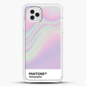 Hipab Holographic Iridescent Pantone Aesthetic Background iPhone 11 Pro Case, White Rubber Case | JoeYellow.com
