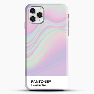 Hipab Holographic Iridescent Pantone Aesthetic Background iPhone 11 Pro Case, Black Snap 3D Case | JoeYellow.com