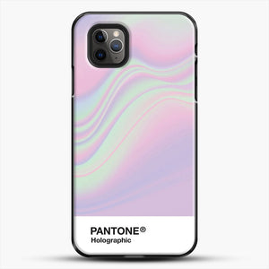 Hipab Holographic Iridescent Pantone Aesthetic Background iPhone 11 Pro Max Case, Black Plastic Case | JoeYellow.com